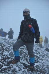 山頂にてHaru☆凍ってます(笑)
