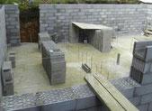 sous-sol en pierre ponce, dalle sur isolant verre recyclé