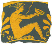 Logo of JMW-Interiors - nude Greek woman with a vase