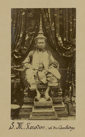 His Majesty King Norodom in Khmer ceremonial costume.