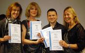 v.L. Andrea Pfister, Ute Just, Bernd Diekmann, Anne Kunze