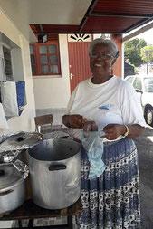 Vendeuse de boudins - Guadeloupe