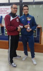 Antonio La Torre vincitore categoria Under 15