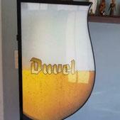 Duvel bier lichtreclame