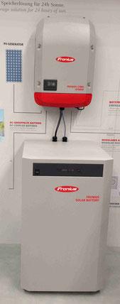 DC Akku Kombi AC Stromspeicher Hybrid Fronius mit Sony Akku 8 Einschüben Produkt der Firma Foto Solarstrom Simon
