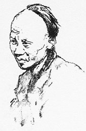 Portrait de Chinois 1. Illustration de Mortimer Menpes (1855-1938), China, 1909.