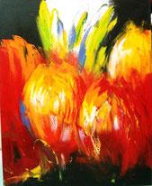Schilderij Modern Tulpen