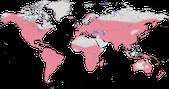 Karte zur Verbreitung der Lappentaucher
