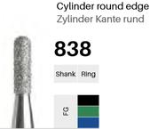 FG-Diamant 838, Zylinder Kante rund