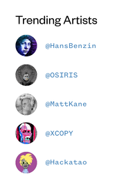 Trending Artists on CryptoArt-Platform SuperRare by Nov 2nd 2019
