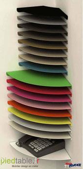 Coloris proposés sur nos tablettes pour angle