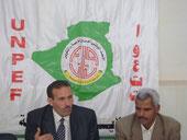 اليسار: لخضر خدايش عضو المكتب الوطني واليمين :قدور بكوش رئيس المكتب الولائي