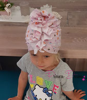 Newborn Turbanmütze,Baby Turbanmütze, Baby Mädchen Beanie Mütze, Rüschenmütze, Mütze