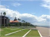 会場: 神戸学院大学ポートアイランドキャンパス学内から太平洋の眺望