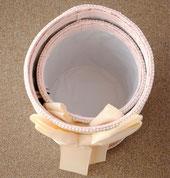 ダストBOX 2個セット ピンク ダマスク柄 布製 リボン付 ダストボックス フリーボックス ジェニファーテイラー JenniferTaylor カルトナージュ