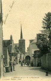 la rue Chaude à Véretz (Indre-et-L.)