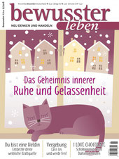 Cover Magazin Bewusster Leben mit Artikel über Cahty Thica