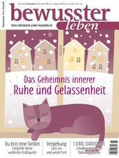 Cover Magazin Bewusster Leben mit Artikel über Cahty Thica