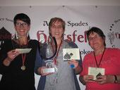 v.l.n.r. Daniela Ledl (Platz 2), Walli Sauerborn (Clubmeisterin), Blandina Fitzek (Platz 3)