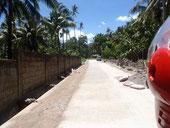 Nypa Style Resort Camiguin, new road, nuova strada, strada asfaltata, concrete road