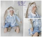 сПЛЮШКА (СОННЫЙ АНГЕЛ). Кукла тильда, продажа. Маслик Ольга