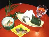 ほたるイカ、おから、お寿司