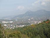 Blick vom Springplatz auf das Siebengebirge