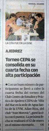 EL MERCURIO, lunes 31 de diciembre 2012.