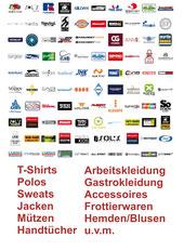 Textilien für Freizeit, Arbeit & Gastro, Frottierware, Taschen & Accessoires, Hemden/Blusen etc.
