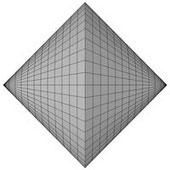 Form eines Doppelkegels