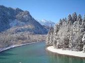 萊希河與奧地利邊境