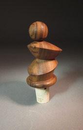 Flaschenverschluss aus Nußbaumholz