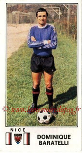 N° 196 - Dominique BARATELLI (1976-77, Nice > 1978-85, PSG)