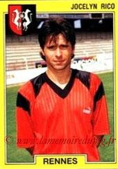 N° 219 - Jocelyn RICO (1988-89, PSG > 1991-92, Rennes)