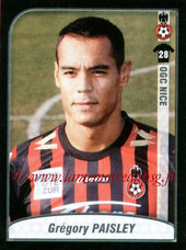 N° 350 - Grégory PAYSLEY (1997-00, PSG > 2009-10, Nice)