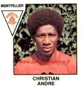 N° 413 - Christian ANDRE (1972-77, PSG > 1978-79, Montpellier, D2)
