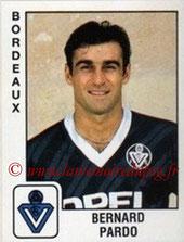 N° 025 - Bernard PARDO (1989-90, Bordeaux > 1991-92, PSG)