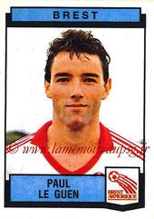 N° 047 - Paul LE GUEN (1987-88, Brest > 1991-98, PSG > Janv 2007-09, Entraîneur PSG)