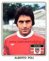 N° 317 - Albert POLI (1974-75, PSG >1977-78, Rouen)