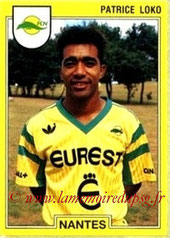 N° 188 - Patrice LOKO (1991-92, Nantes > 1995-98, PSG)