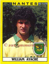 N° 219 - William AYACHE (1986-87, PSG > 1988-89, Nantes)
