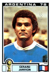 N° 082 - Gérard JANVION (1978, France > 1983-85, PSG)