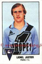 N° 221 - Lionel JUSTIER (1975-78, PSG > 1978-79, Paris FC)