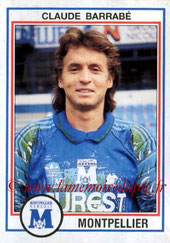 N° 141 - Claude BARRABE (1986-88, PSG > 1992-93, Montpellier)