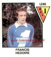N° 495 - Francis HEDOIRE (1978-79, Lens > 1983-84, PSG)