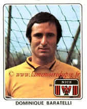 N° 184 - Dominique BARATELLI (1977-78, Nice > 1978-85, PSG)