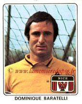 N° 184 - Dominique BARATELLI (1977-78, Nice > 1978-85, PSG)