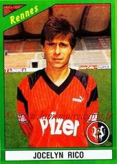 N° 189 - Jocelyn RICO (1988-89, PSG > 1990-91, Rennes)