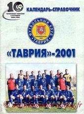 Livret  Simferopol-PSG  2001-02