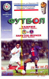 Programme  Simferopol-PSG  2001-02